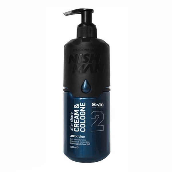 Nishman Aftershave Cream & Cologne 400ml - Arctic Blue 02